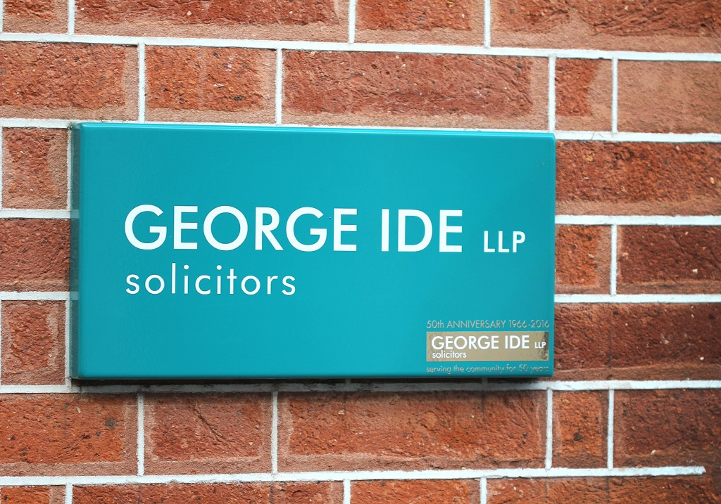 powder coated sign, George Ide, Chichester
