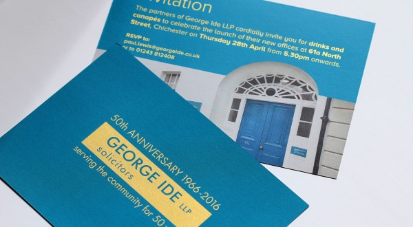 Invitation Design Chichester