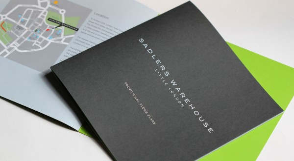 Brochure design, Sadlers Warehouse, Chichester