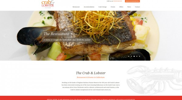 Website Design Crab & Lobster