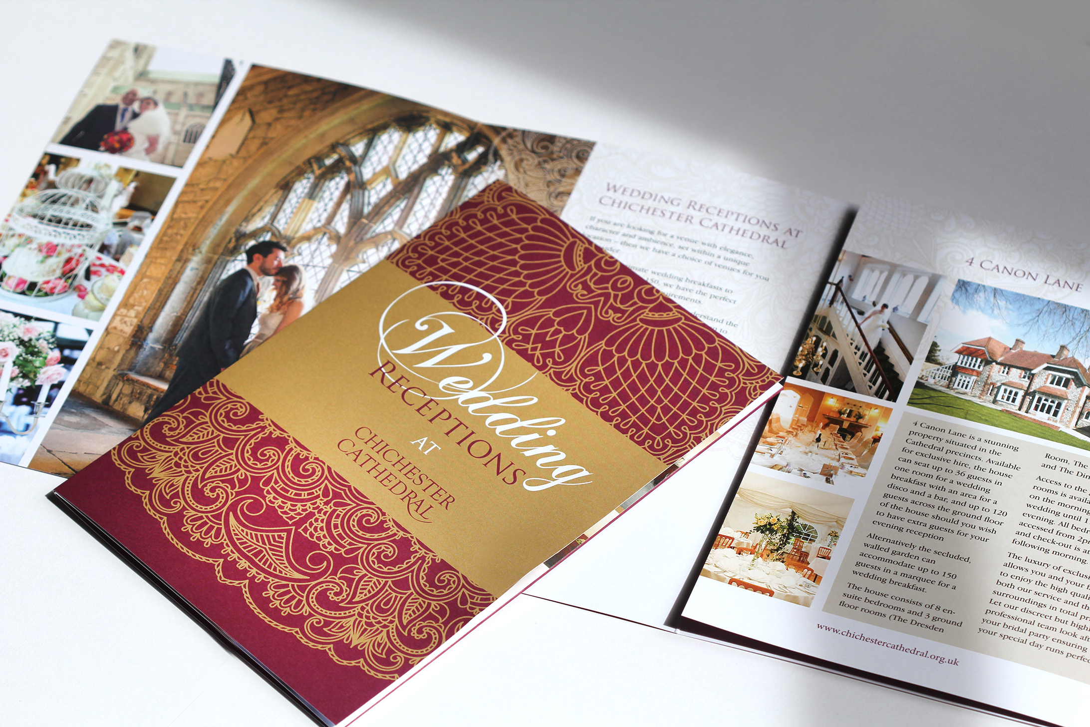 Chichester cathedral weddings brochure profile design for Brochure printing and design